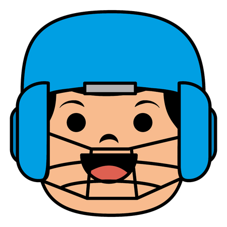 baseball player catcher avatar character vector illustration design Çizim