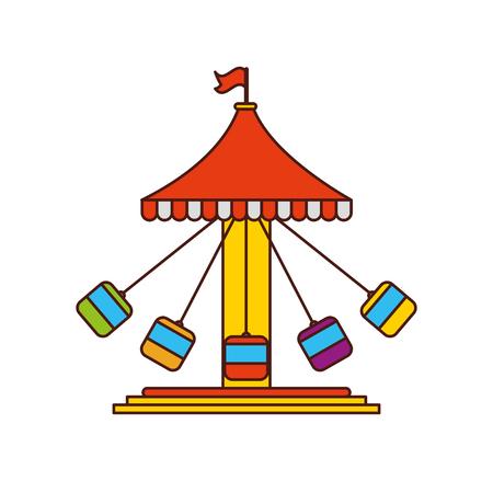 Hurricane carnival game icon vector illustration design