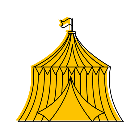 サーカス テント分離アイコン ベクトル イラスト デザイン  イラスト・ベクター素材