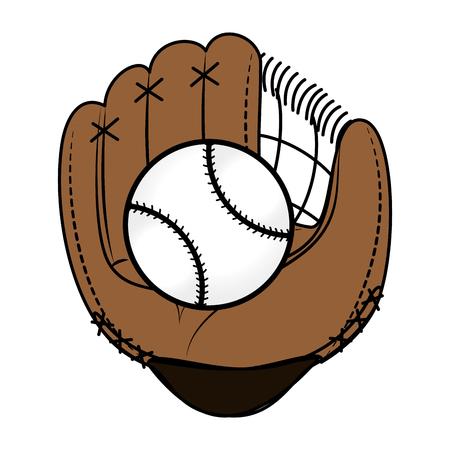 baseball glove isolated icon vector illustration design Stock Vector - 84594614