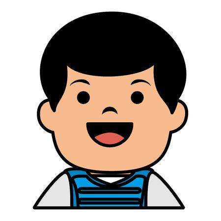 baseball player catcher avatar character vector illustration design Illustration