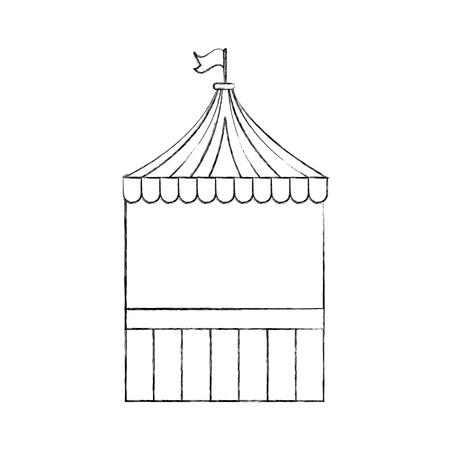 film industry: ticket shop carnival icon vector illustration design Illustration