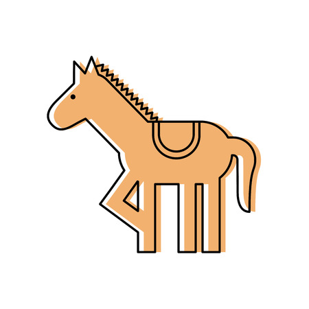 carousel horse isolated icon vector illustration design Фото со стока - 84594574