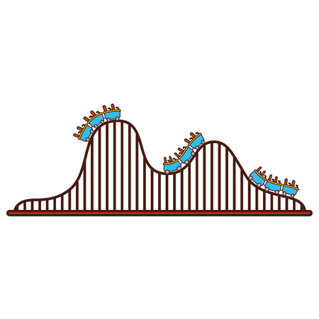 roller coaster isolated icon vector illustration design 向量圖像