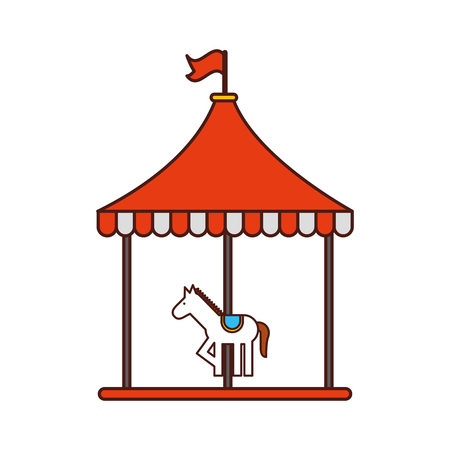 carnival carousel isolated icon vector illustration design Illustration