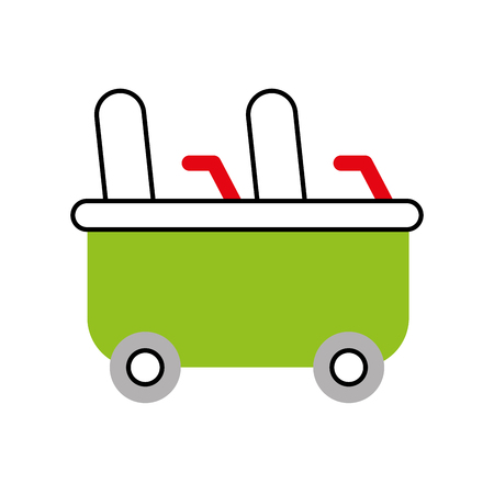 Achterbahn Wagen isoliert Symbol Vektor-Illustration Design Standard-Bild - 84594564