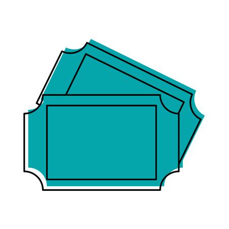Karneval Tickets isoliert Symbol Vektor-Illustration Design Standard-Bild - 84594566