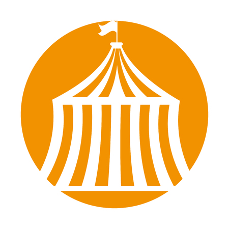 circus tent isolated icon vector illustration design