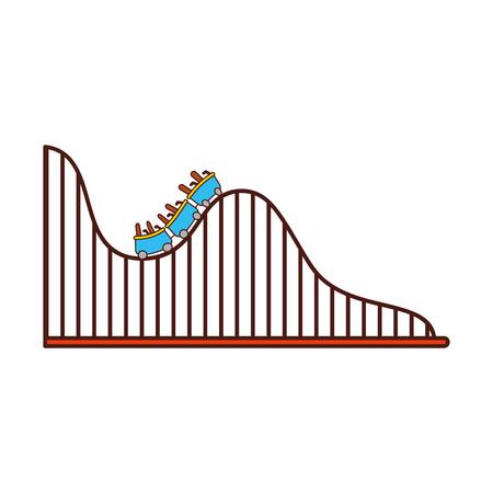 roller coaster isolated icon vector illustration design Çizim