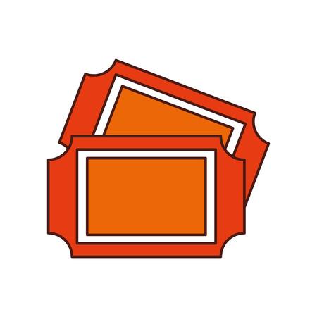 Karneval Tickets isoliert Symbol Vektor Illustration design Standard-Bild - 84594513