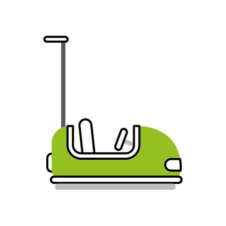 bumper cars carnival game vector illustration design