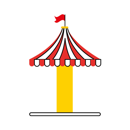 carousel tent isolated icon vector illustration design Фото со стока - 84594524