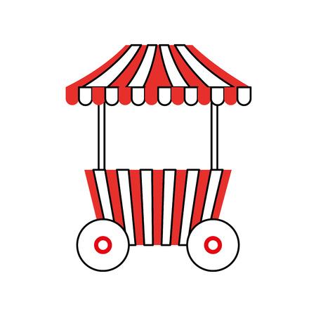 Carrello fast food fast food con illustrazione vettoriale illustrazione Archivio Fotografico - 84594526