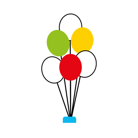 event party: balloons party isolated icon vector illustration design