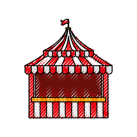 ticket shop carnival icon vector illustration design Illustration