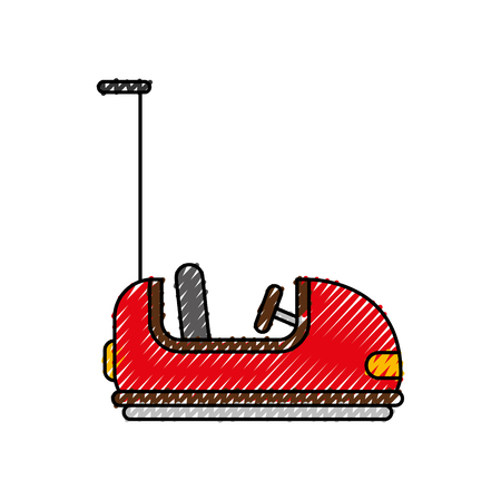 bumper cars carnival game vector illustration design