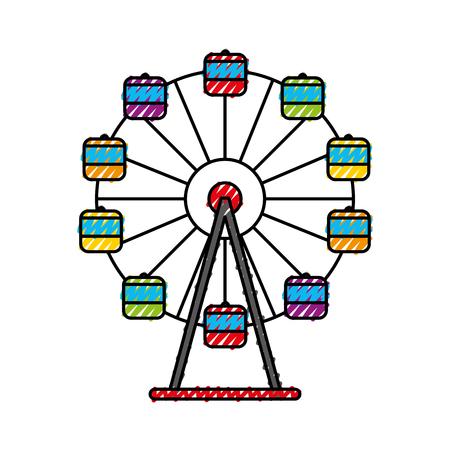 Panoramic wheel isolated icon vector illustration design Stock Vector - 84593991