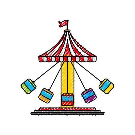 Diseño del ejemplo del vector del icono del juego del carnaval del huracán Foto de archivo - 84593895