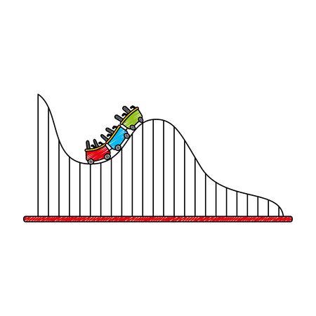 roller coaster isolated icon vector illustration design Çizim