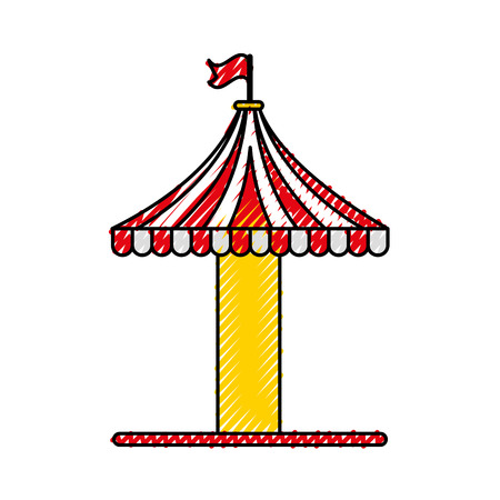 carousel tent isolated icon vector illustration design Illustration