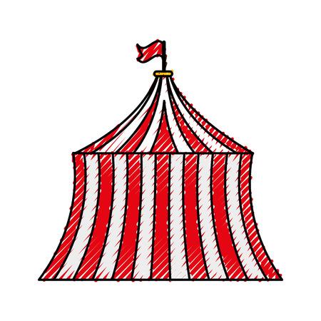 circus tent geïsoleerd pictogram vector illustratie ontwerp