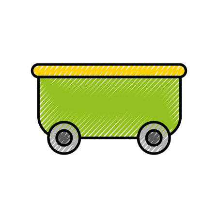roller coaster wagon isolated icon vector illustration design Иллюстрация