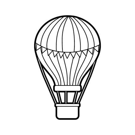 carnival balloon air flying vector illustration design Stock fotó - 84593841
