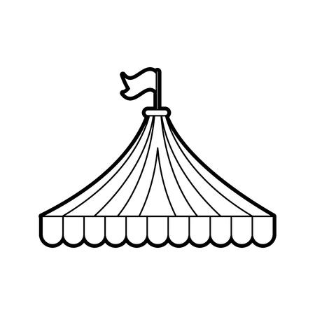 circus tent isolated icon vector illustration design Ilustrace