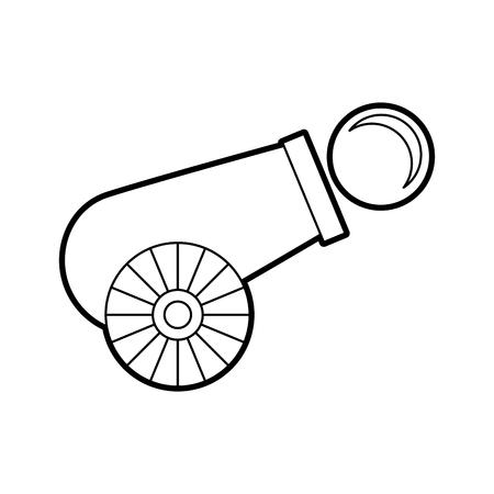 카니발 협곡 절연 아이콘 벡터 일러스트 디자인 일러스트