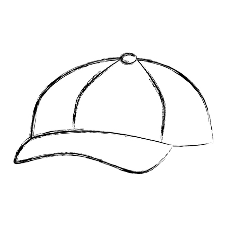 Gorra de béisbol aislado icono de diseño de ilustración vectorial Foto de archivo - 84593858