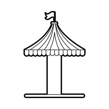 carousel tent isolated icon vector illustration design Illustration