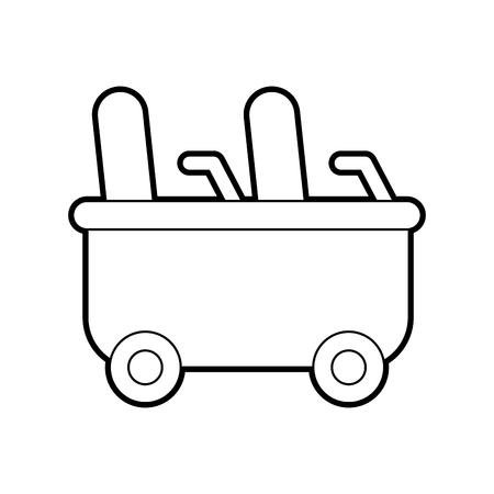 achtbaan wagen geïsoleerd pictogram vector illustratie ontwerp