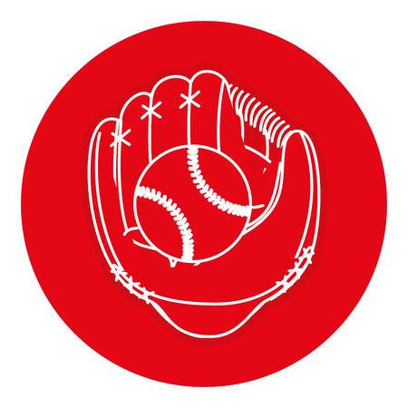 baseball glove with ball vector illustration design