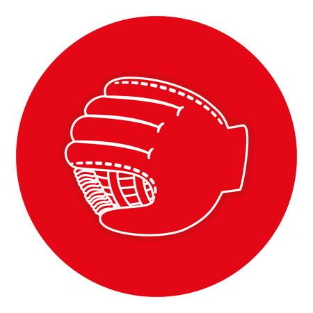 야구 장갑 절연 아이콘 벡터 일러스트 디자인