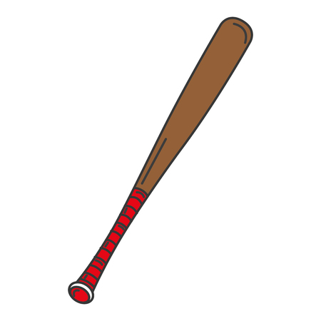 baseball bat isolated icon vector illustration design