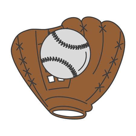 baseball glove with ball vector illustration design Stock Vector - 84593720