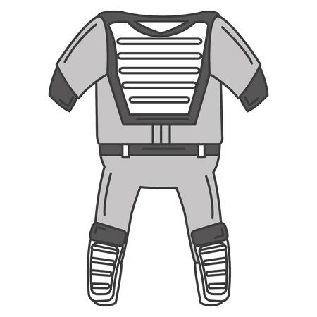 baseball catcher uniform icon vector illustration design