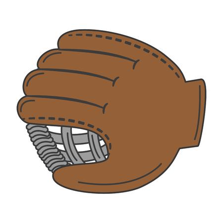 baseball glove isolated icon vector illustration design