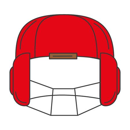 sport helmet isolated icon vector illustration design