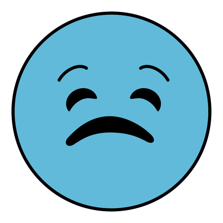 beguin: sad emoticon face character icon vector illustration design Illustration