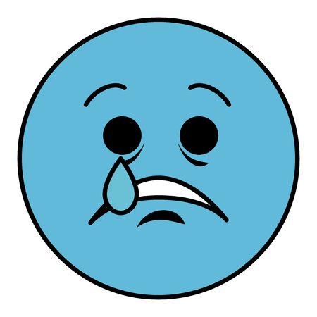 crying emoticon face character icon vector illustration design Illustration
