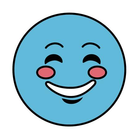 beguin: happy emoticon face character icon vector illustration design