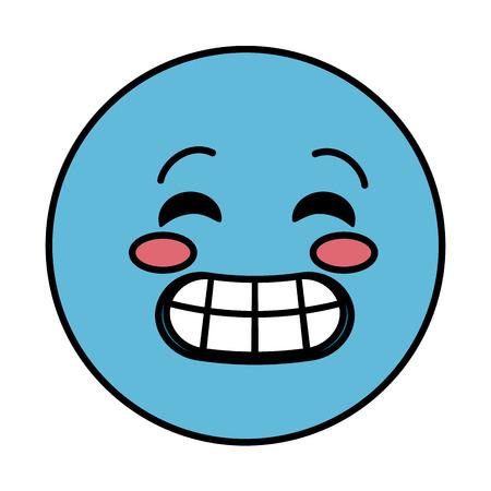 crazy emoticon face character icon vector illustration design Illustration