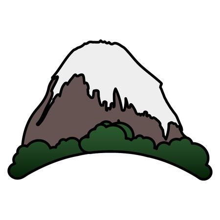 雪ベクトル イラスト デザインの山ピーク