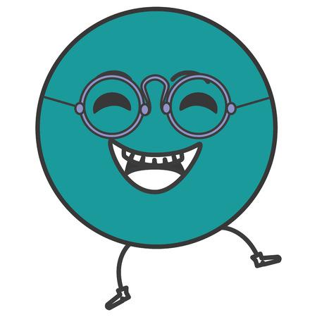 happy emoticon face character icon vector illustration design