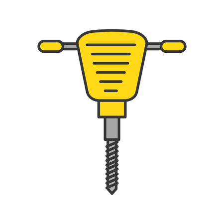 hydraulic hammer isolated icon vector illustration design