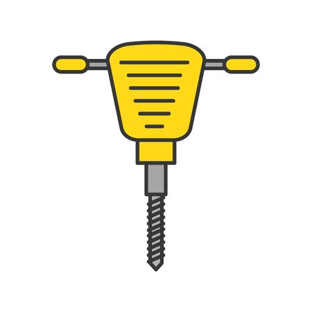Marteau hydraulique icône isolée conception d'illustration vectorielle Banque d'images - 84595186