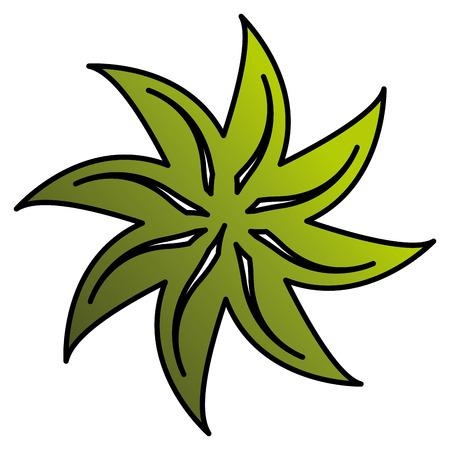 leaf plant ecology icon vector illustration design