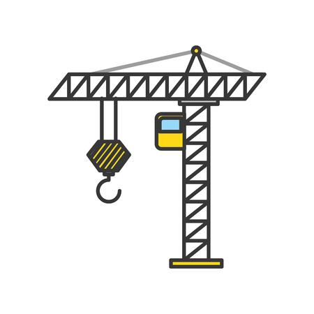 Grue de construction isolé icône vecteur illustration de conception Banque d'images - 84595195