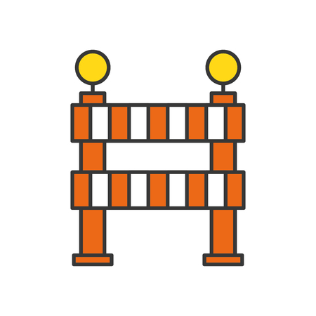 obstruction: construction barrier isolated icon vector illustration design